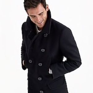 J.Crew Navy Blue Pea Coat with Thinsulate